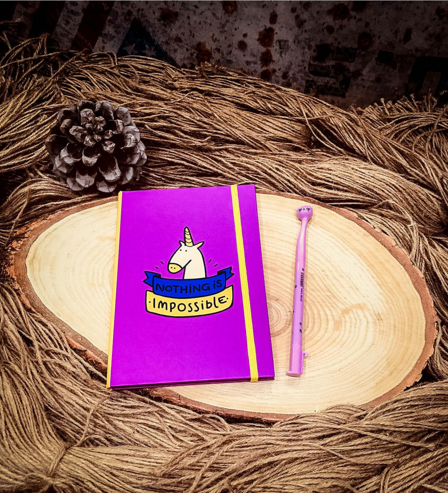Nothing İs İmpossible Unicorn Tasarım Defter